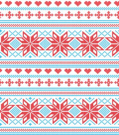 Winter festive Christmas knitted pattern woolen knitted 2018 Çizim