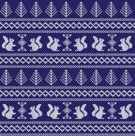 Winter festive Christmas knitted pattern woolen knitted 2018.
