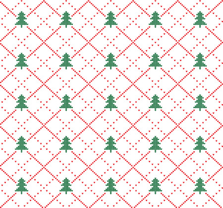 Winter festive seamless pattern