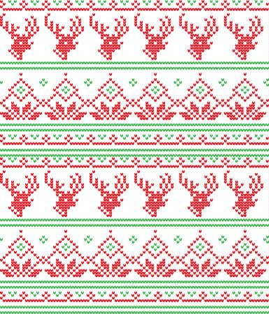 Winter festive Christmas knitted pattern woolen knitted 2018.