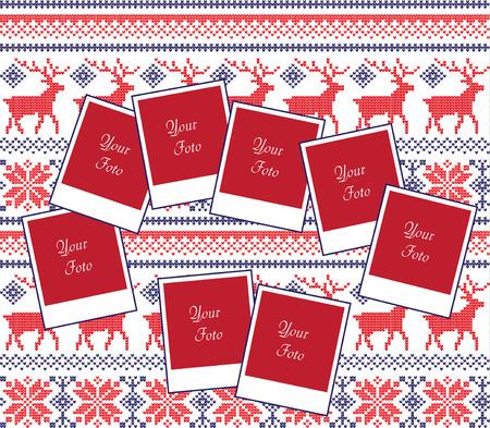 クリスマスと新年の写真コラージュ 2018。