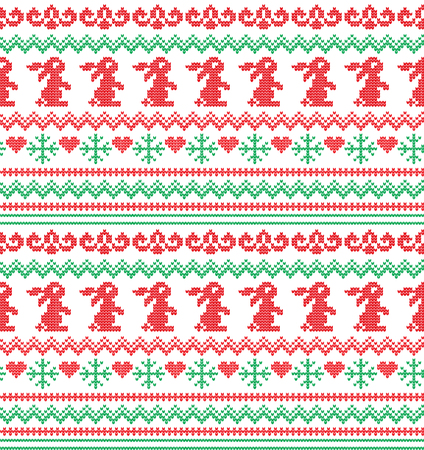 Winter holiday seamless knitting pattern with a Christmas trees. Christmas knitting sweater design. Wool knitted texture.