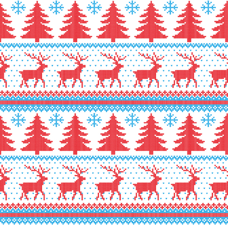 9c29a1333cdd0a Winter festive Christmas knitted pattern woolen knitted Stock Vector -  90084486