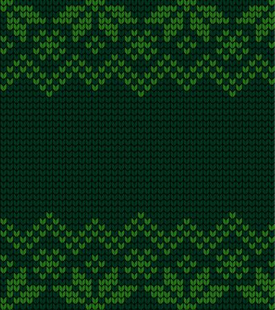 Festive Sweater Design. Seamless Winter Knitted Pattern 일러스트