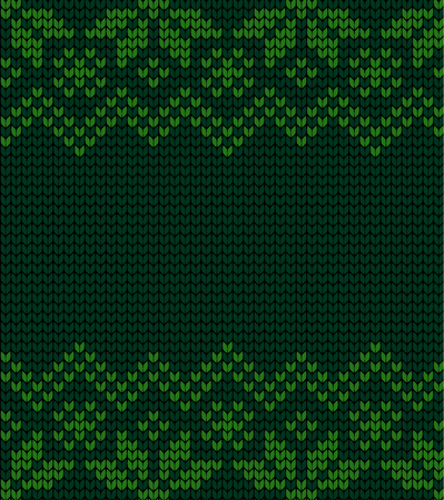 Festive Sweater Design. Seamless Winter Knitted Pattern Vectores