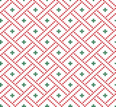 Christmas New Years winter festive Norwegian pixel pattern.