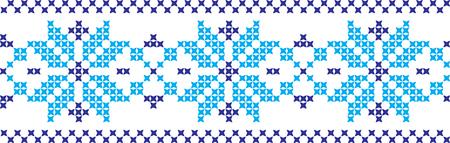 수 놓은 우크라이나어와 러시아 국립 패턴 크로스.