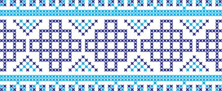 Gesticktes ukrainisches und russisches nationales Musterkreuz. Standard-Bild - 90664081