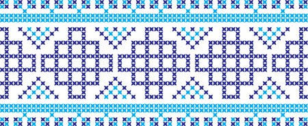 Embroidered Ukrainian and Russian national pattern cross.