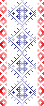 embroidered Ukrainian and Russian national pattern cross