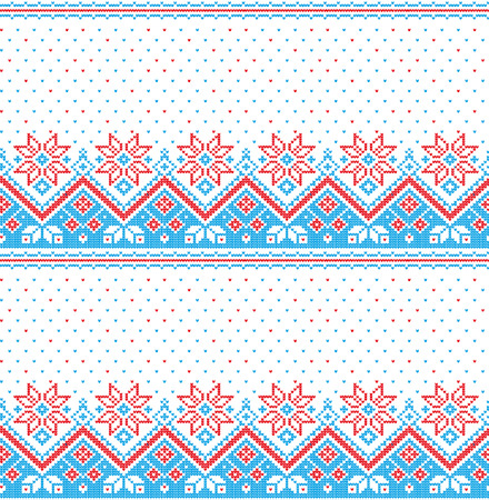 Christmas New Years winter seamless festive Norwegian woolen knitted pattern 2018