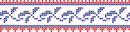 embroidered cross-stitch ornament national pattern Ukrainian Slavic