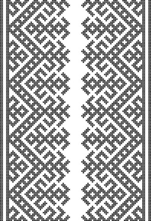 geborduurd kruissteek ornament nationaal patroon Oekraïens Slavisch Stock Illustratie