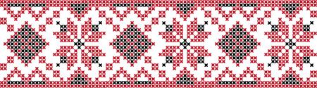 Gestickte Kreuzstich Ornament nationale Muster ukrainischen slawischen Standard-Bild - 91758292