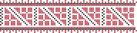 Gestickte Kreuzstich Ornament nationale Muster ukrainischen slawischen Standard-Bild - 91778197
