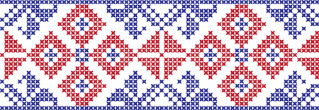 embroidered cross-stitch ornament national pattern Ukrainian Slavic