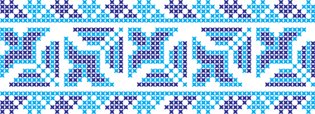 embroidered cross-stitch ornament national pattern of Ukrainian Slavic Stock Illustratie