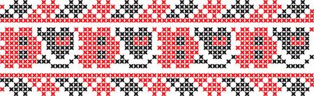 geborduurd kruissteek ornament nationaal patroon