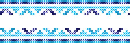 Embroidered cross-stitch ornament national pattern Ukrainian Slavic.