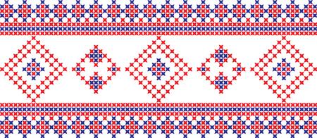 Embroidered cross stitch ornament pattern