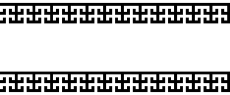 Seamless vectorial Greek ornament black and white Illustration