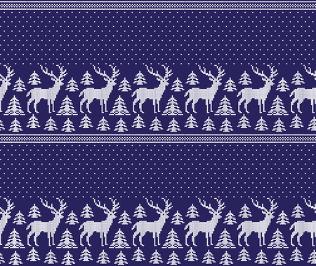 Christmas New Year's winter seamless festive Norwegian pixel pattern - Scandinavian style 2019
