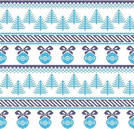 Winter festive Christmas knitted pattern woolen knitted 2019
