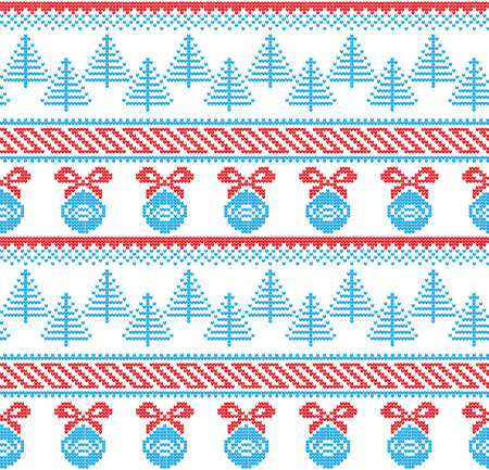 Winter festive Christmas knitted pattern woolen knitted