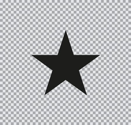 Vector flat icon of star on transparent background