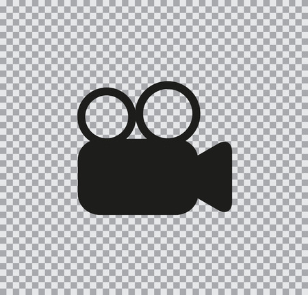 Vector icon camera foto video black on a transparent background