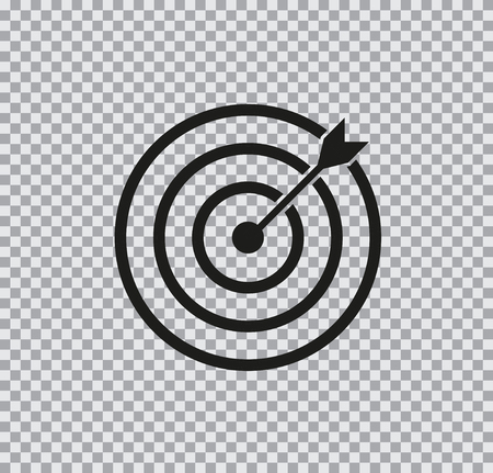 Vector icon target black on a transparent background Ilustrace