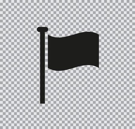 Vector flat icon of flag black on a transparent background Ilustrace