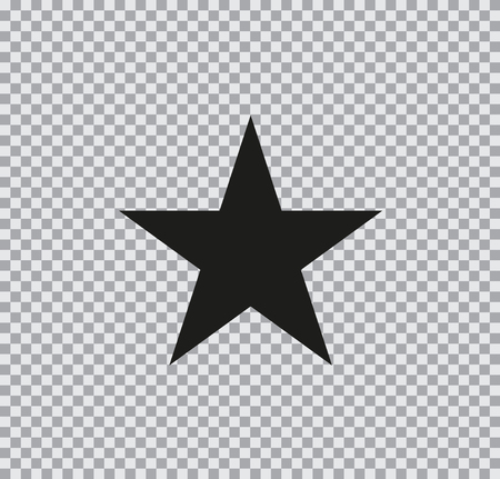 Vector flat icon of star black on a transparent background Stock Illustratie