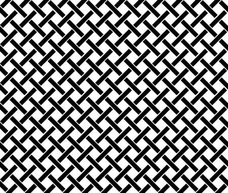 Abstrakter geometrischer Musterhintergrund mit sechseckiger und dreieckiger Beschaffenheit. Schwarze und weiße nahtlose Rasterlinien.