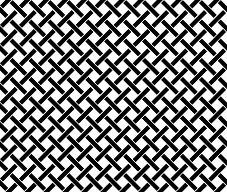 Fondo de patrón geométrico abstracto con textura hexagonal y triangular. Líneas de cuadrícula sin costura en blanco y negro.