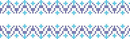 embroidered Ukrainian national pattern cross Illustration