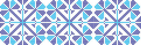 embroidered Ukrainian national pattern crossembroidered cross ukrainian slavic national pattern on transparent background Vetores