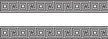 Seamless vectorial Greek ornament black and white Vector Illustration