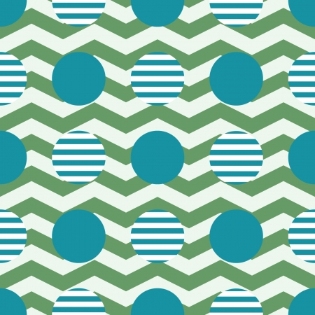 geometric pattern, zigzag and round Vector