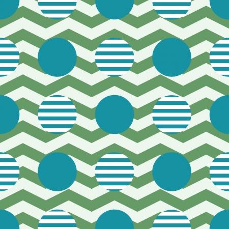 geometric pattern, zigzag and round