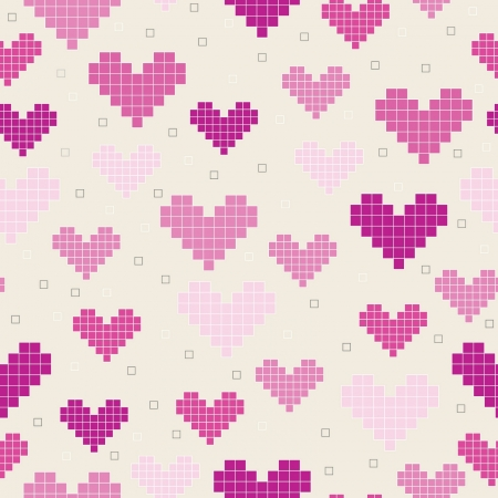 seamless pattern with hearts Stock Vector - 17455291