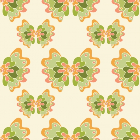 seamless abstract pattern with green flowers Stock Vector - 17692621