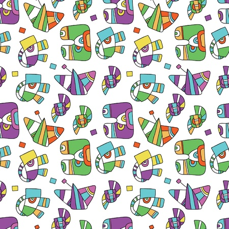invent things: seamless pattern with fantastic things Illustration