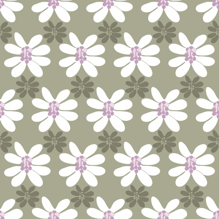 floral seamless pattern on a colored background Illustration
