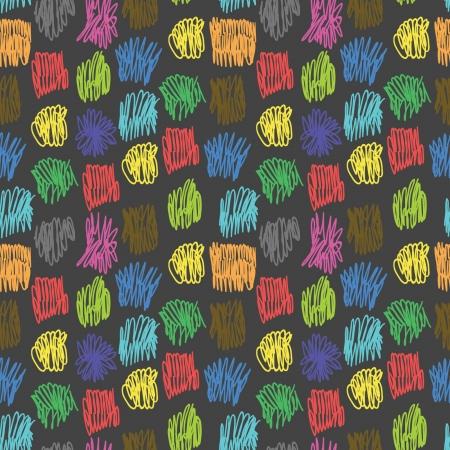 garabatos: patr�n transparente con garabatos de colores