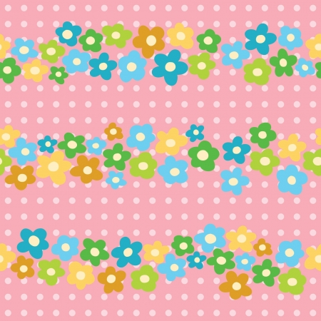 seamless pattern with cheerful flowers Vector