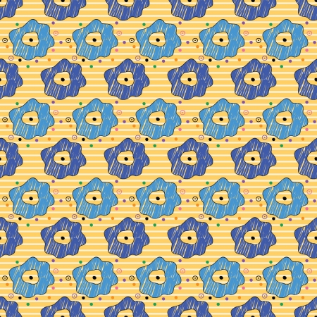 seamless pattern with a lot of flowers on a striped background