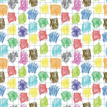 scrawl: seamless con scarabocchio colorato