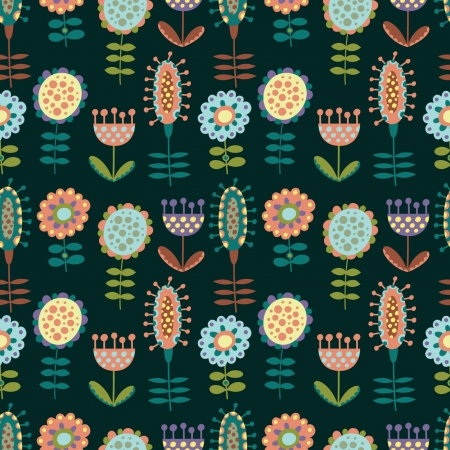 seamless pattern with lots of flowers Stock Vector - 18596264
