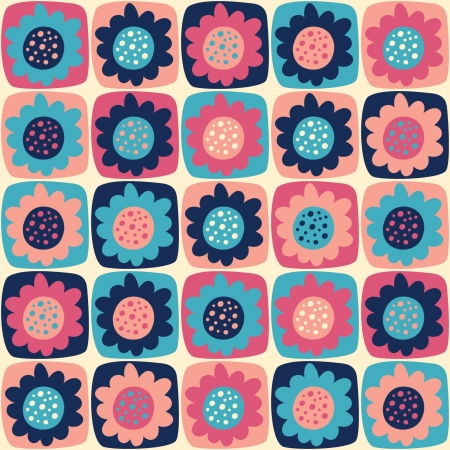 seamless pattern with flowers Stock Vector - 18652319